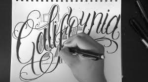 los angeles california lettering
