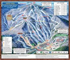 Mt Washington Trail Map by Resort Ski New Hampshire