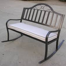 Patio Furniture Charleston Sc Oakland Living Rochester 50 In Tubular Iron Rocking Bench In