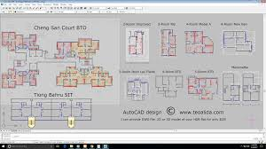 How To Draw Floor Plan In Autocad by Hdb Floor Plans In Dwg Format Autocad Design Teoalida Website