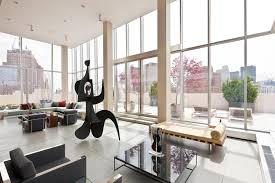 modern full glass skyloft penthouse in tribeca caandesign