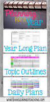 plan for next year organize the year topics u0026 daily lessons