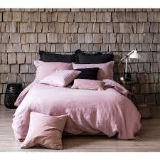 lisbon bed linen in blush pink 100 linen bedding