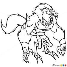 draw blitzwolfer ben 10