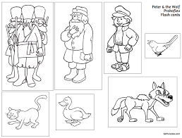 peter and the wolf coloring pages to print 4323