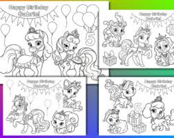 princess palace pets coloring pages palace pets birthday etsy