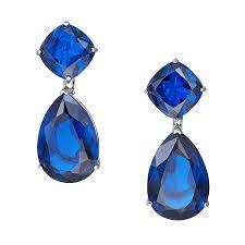 blue earrings omega clip blue earrings ciro jewelry black tie