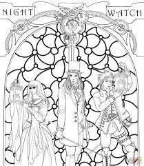 steampunk night watch crew super coloring coloring pages