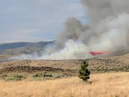 Wildfire Near Reno by Aspen Fire In Palomino Valley 100 Contained