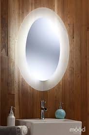 Bathroom Mirror Led Light by Bathroom Mirror Led Ambient White Surround Light Oval 80cm H X
