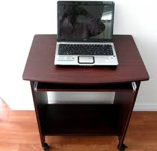 Small Portable Computer Desk S2718 26 W Narrow Compact Computer Desk W Mouse Tray Free