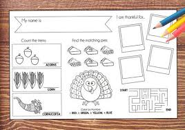 thanksgiving printable placemat macaroni kid