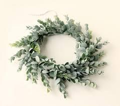 eucalyptus wreath faux eucalyptus wreath artificial greenery leaf home decor