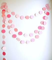 pink garland pink circles paper garland pink baby shower decor nursery