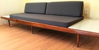 Mid Century Daybed Mid Century Modern Restored Walnut Daybed With White Marble