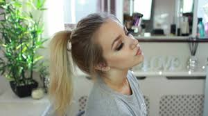 ponytail hair extensions how to create a high ponytail using clip in hair extensions