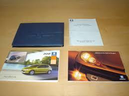 peugeot 206 u0026 206sw owners handbook c w wallet 2003 2009 3