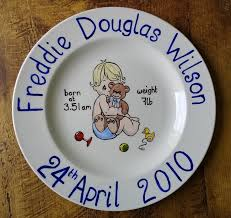 baby birth plates personalized 31 best birth plates images on painting ceramic