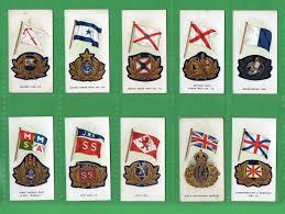 Commonwealth Flags Tabasco Cards Cigarette Cards Set Ship S Flags U0026 Cap Badges
