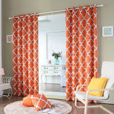 polyester printed geometric pattern bedroom curtains