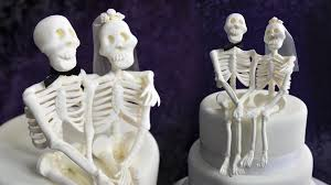 skeleton wedding cake topper skeleton and groom cake topper tutorial by yeners way