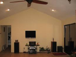 Vaulted Ceiling Tv Mount by How To Deal With A Big Yellow Wall Avs Forum Home Theater