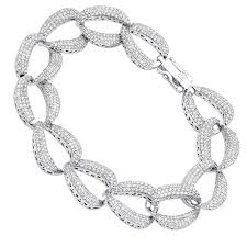 chain diamond bracelet images 14k gold pave diamond chain link bracelet for women 3 75ct by luxurman jpg