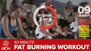 fat burning workout 40 minute indoor cycling class youtube