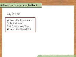 how to write a letter of notice to your landlord 14 steps
