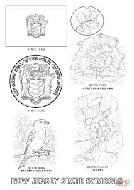new jersey state symbols coloring page free printable coloring pages