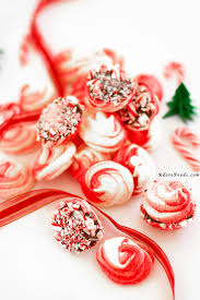 chocolate dipped candy cane peppermint meringue adore foods