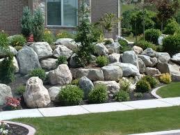 pretty landscaping boulders types u2014 bistrodre porch and landscape