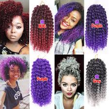 how long does hair ombre last 3pcs lot marlybob curly crochet hair extensions 8 afro kinky