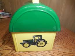 john deere lunch box cookie jar by gibson what u0027s it worth