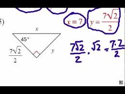 how to solve special right triangles problem set 1 youtube