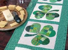 st patrick s day table runner st patrick s day quilts archives quilting digest