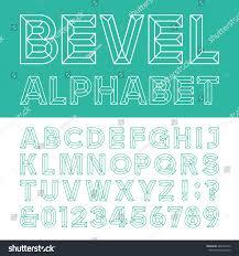 beveled alphabet vector font beveled block outline stock vector