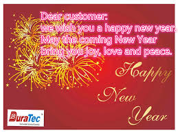 new years greetings and notice