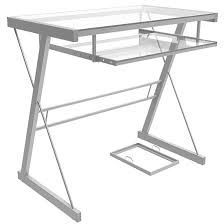 Metal Computer Desk Becker Computer Desk In Silver