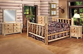 Pine Bed Set Rustic 5 Pc Pine Log Bedroom Suite Lodge Bed Cali