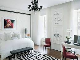 Mini Black Chandelier Modern Bedroom With Grey Accent Wallpaper And Using Mini Black