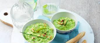 cuisine facile et originale guacamole de petits pois une recette facile et originale