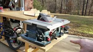 bosch safety table saw bosch 4100 table saw review youtube