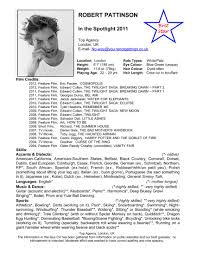 Acting Resume For Beginner Special Skills For Acting Resume Resume For Your Job Application