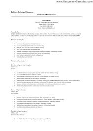 Resume For Assistant Principal Example Of A College Resume Tutornow Info