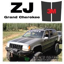 jeep hood decals grand cherokee zj hood blackout