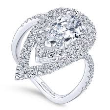 gold pear shaped engagement ring trinitaria 18k white gold pear shape halo engagement ring
