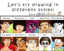 Different Meme - meme 3 let s try drawing in different styles by hamatsu on deviantart