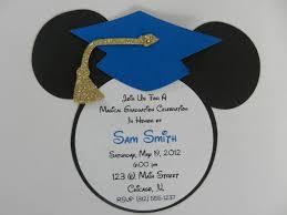 graduation cap invitations mickey mouse inspired graduation invitations envelopes