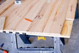 Build A Wooden Table Top by Hardwood Floor Topped Table Tutorial Stuff Pinterest